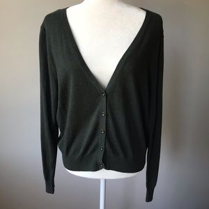🔥2/$30 Forever 21 Cardigan Button Down Green 3x